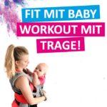 Training mit einem Baby in der Trage