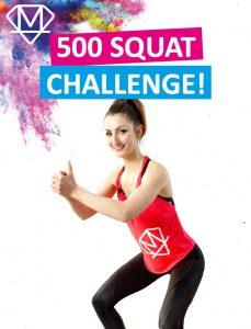 Herausforderung für 500 Kniebeugen in einem Durchgang