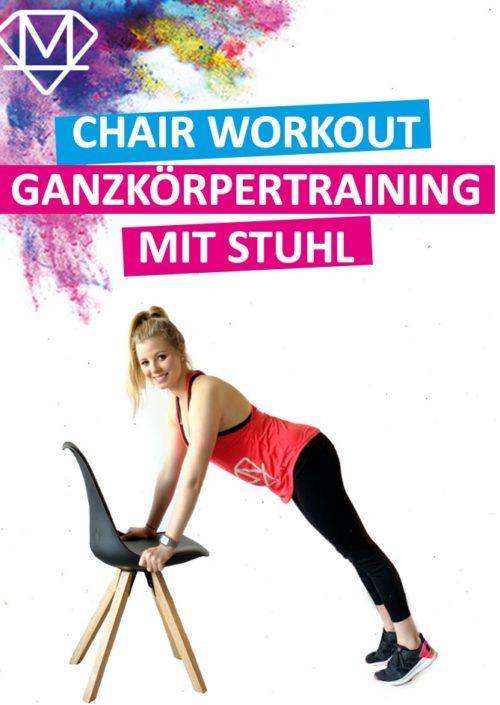 Ein Ganzkörpertraining mit einem Stuhl