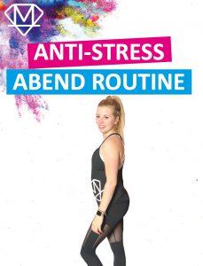 Posierende Frau für eine Anti Stress Routine