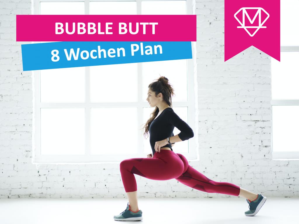 Frau mit trainiertem Hintern für den Bubble Butt Trainingsplan