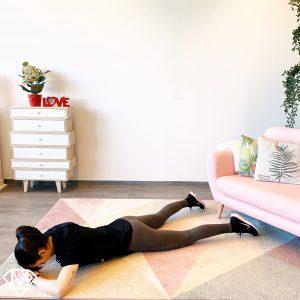 Ausgangsposition für eine anstrengende Rücken- und Hinternübung