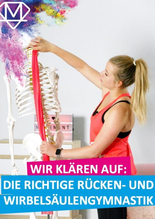 die richtige Wirbelsäulengymnsatik am Skelett demonstriert
