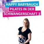 Schwangere Frau die Pilates trainiert