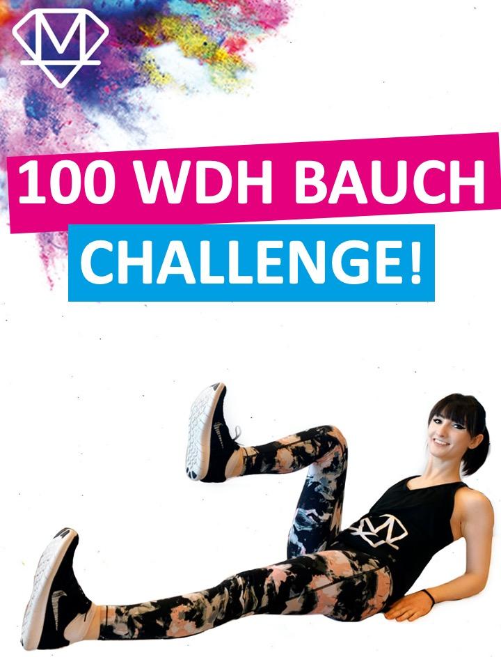 100 Wdh. Bauch Challenge